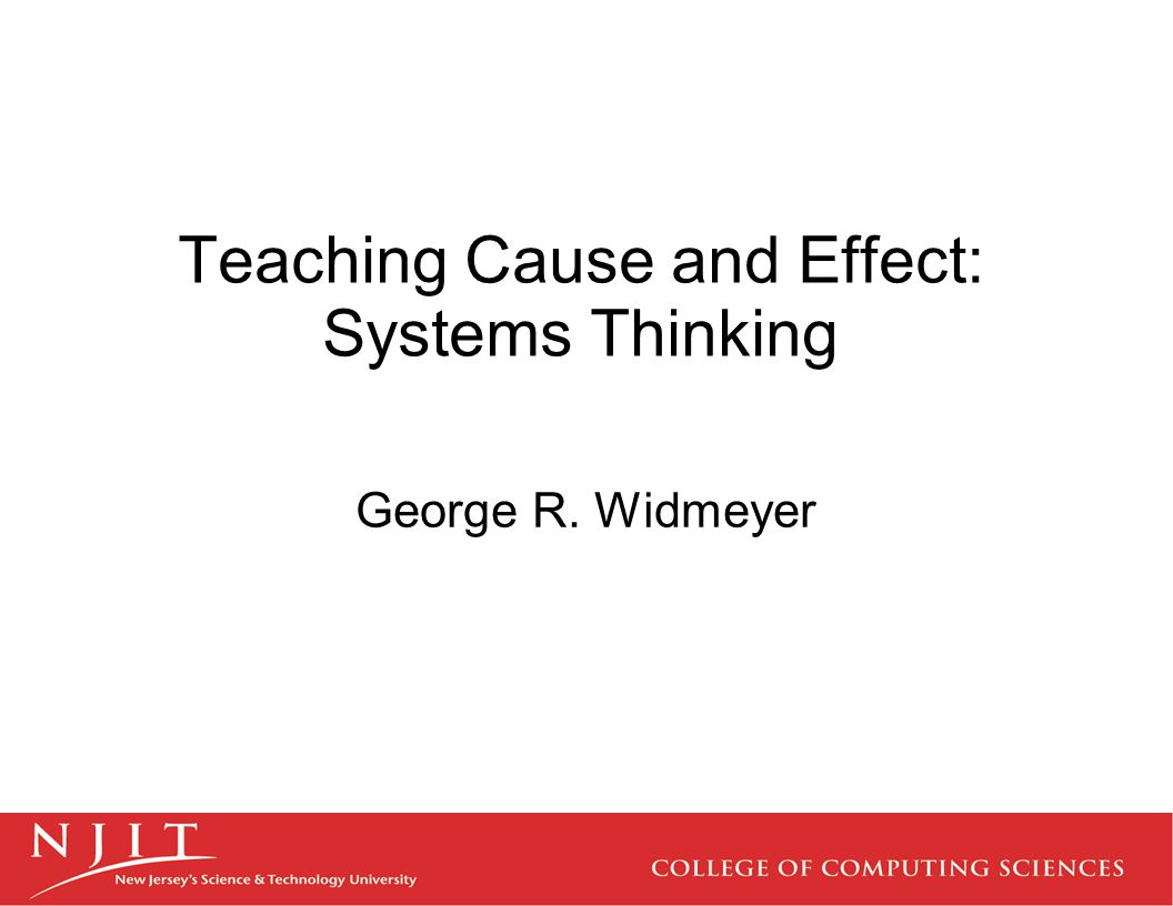 Teaching Cause and Effect: Systems Thinking