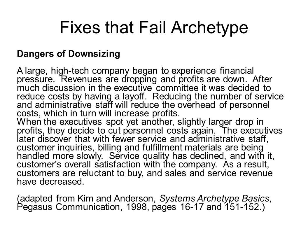Fixes that Fail Archetype