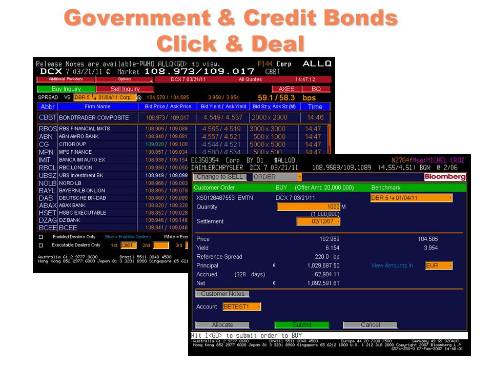 Government & Credit Bonds Click & Deal