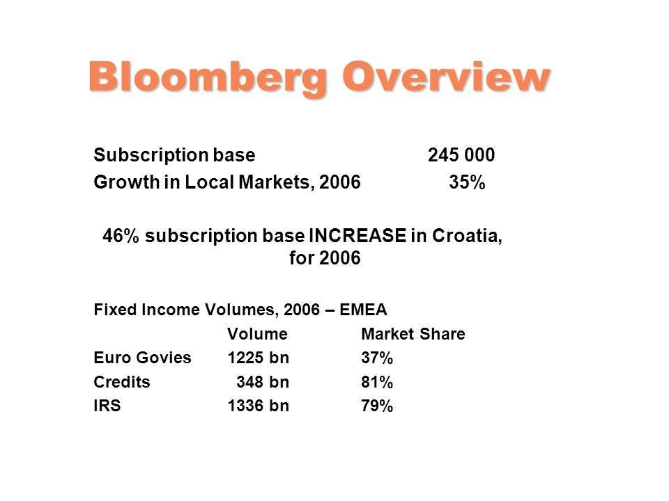 46% subscription base INCREASE in Croatia, for 2006