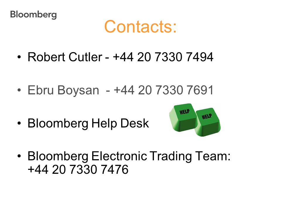 Contacts: Robert Cutler - +44 20 7330 7494