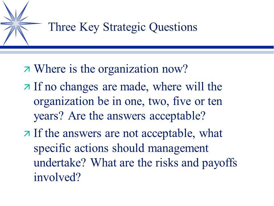 Three Key Strategic Questions