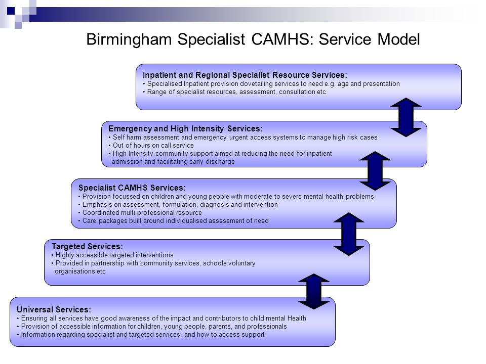 Birmingham Specialist CAMHS: Service Model