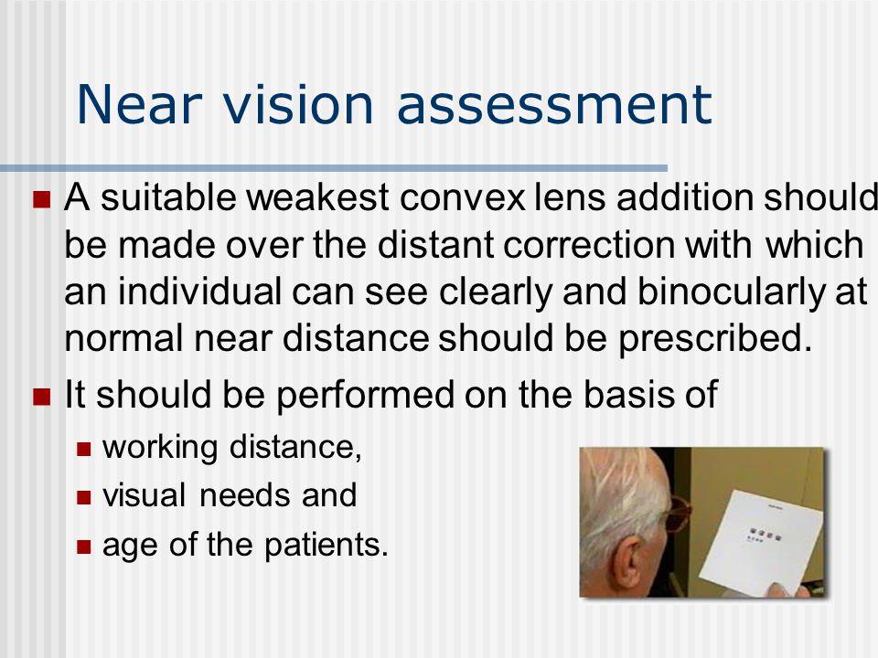 Near vision assessment