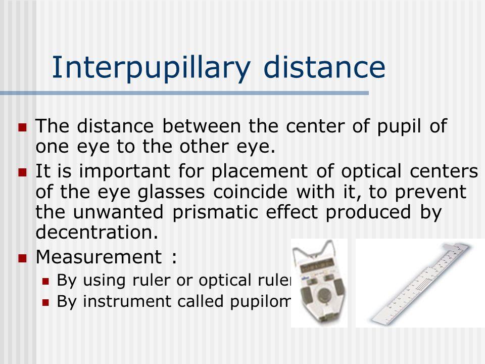 Interpupillary distance