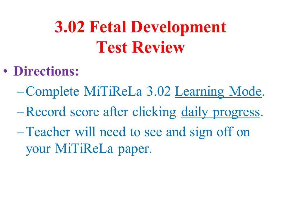 3.02 Fetal Development Test Review