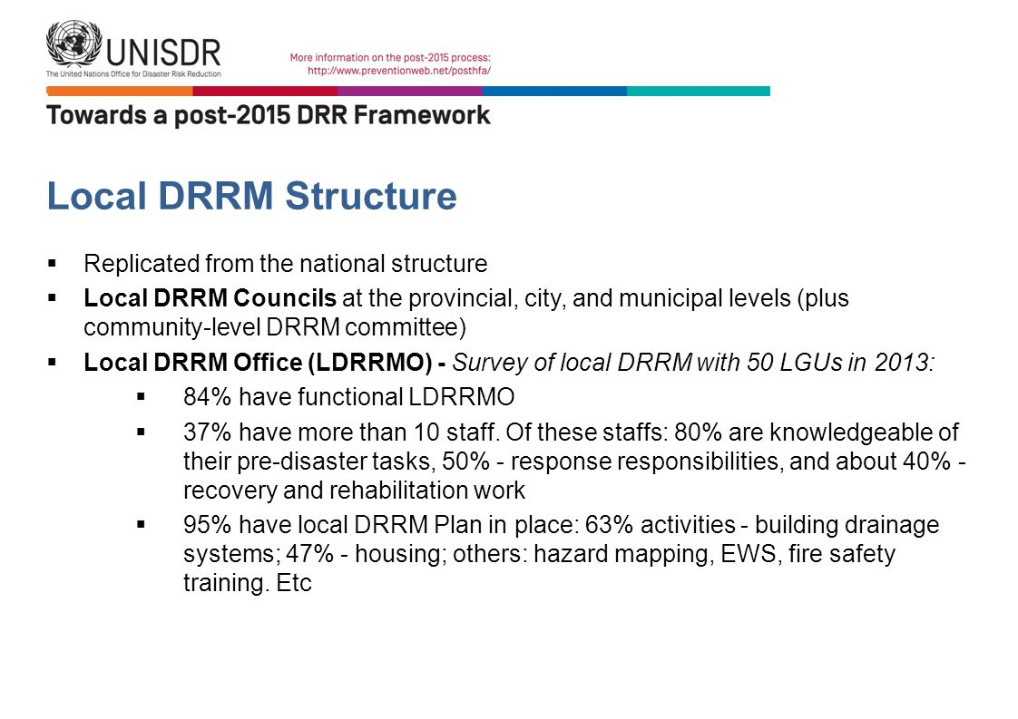 Local DRRM Structure Replicated from the national structure