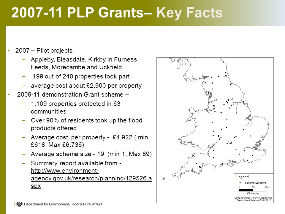 2007-11 PLP Grants– Key Facts 2007 – Pilot projects