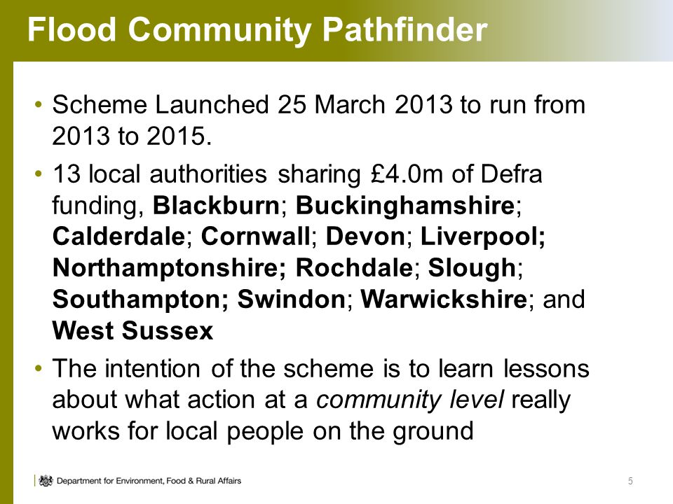Flood Community Pathfinder