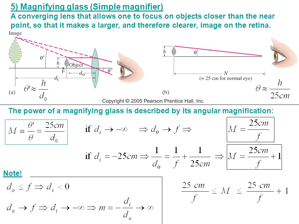 5) Magnifying glass (Simple magnifier)