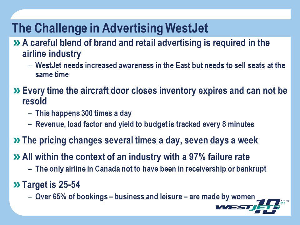 The Challenge in Advertising WestJet