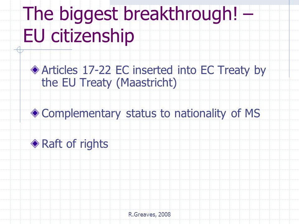 The biggest breakthrough! – EU citizenship