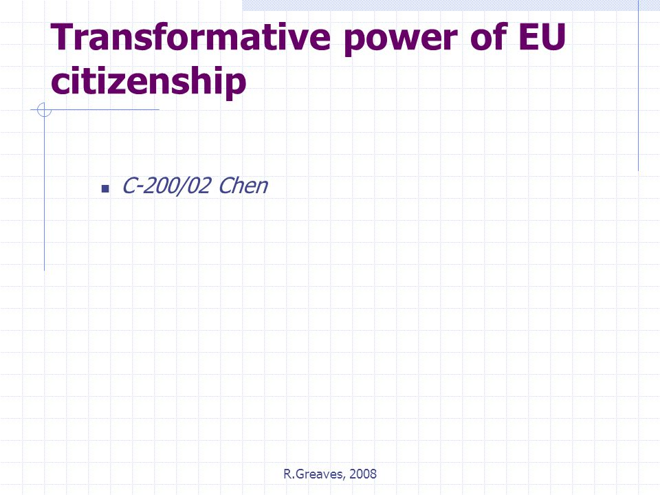 Transformative power of EU citizenship