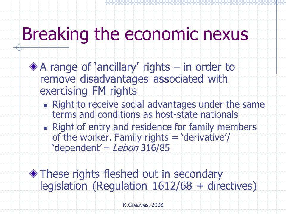 Breaking the economic nexus