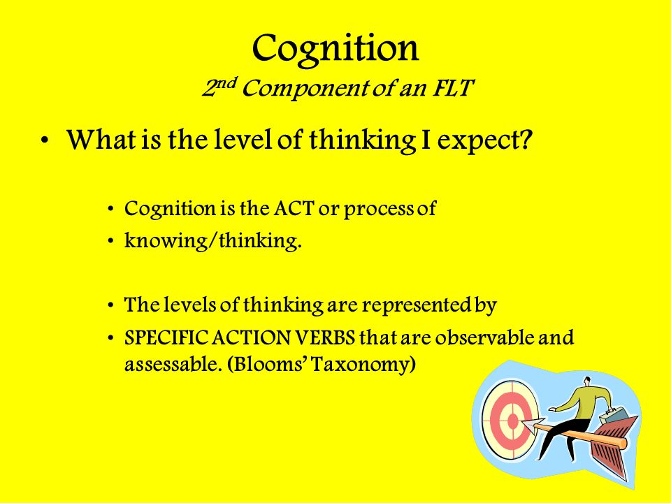 Cognition 2nd Component of an FLT