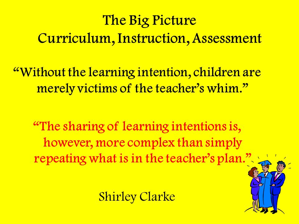The Big Picture Curriculum, Instruction, Assessment
