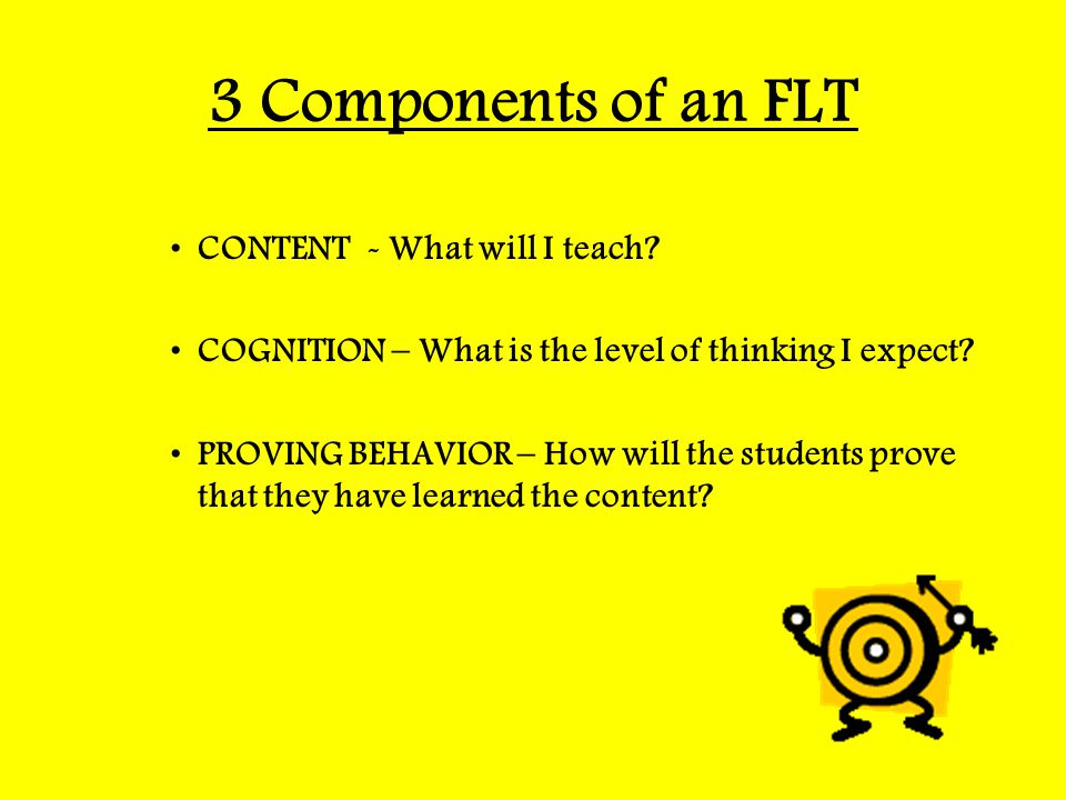 3 Components of an FLT CONTENT - What will I teach