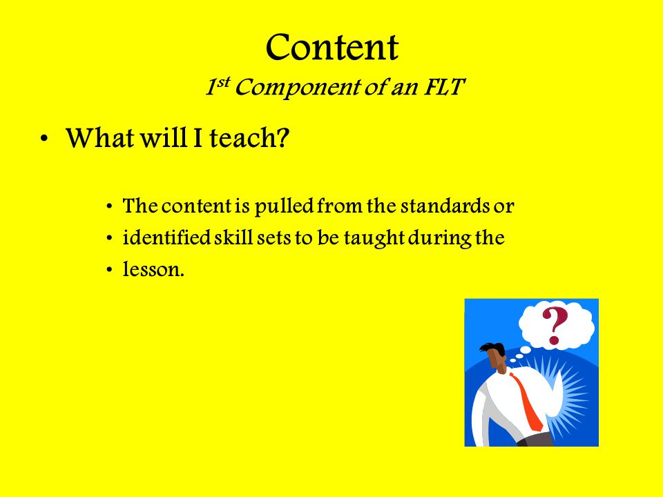 Content 1st Component of an FLT