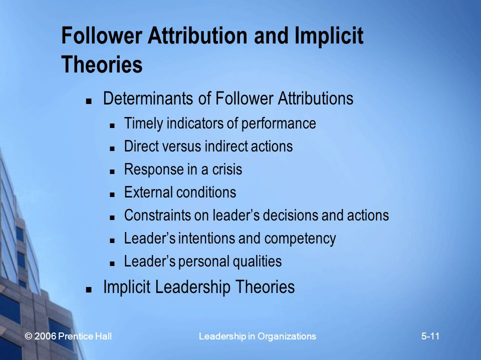 Follower Attribution and Implicit Theories