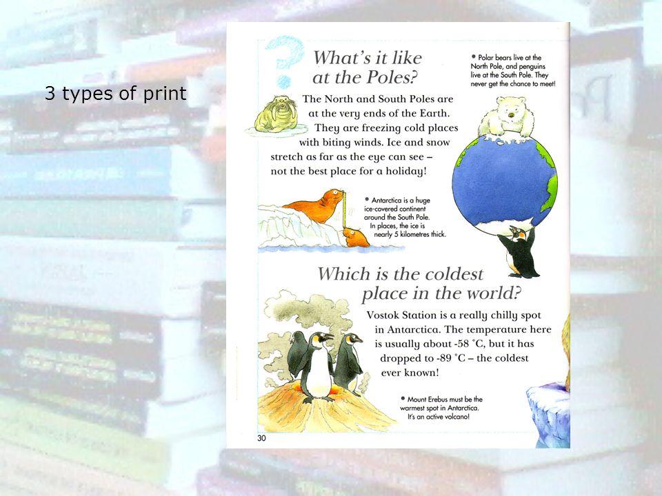 3 types of print