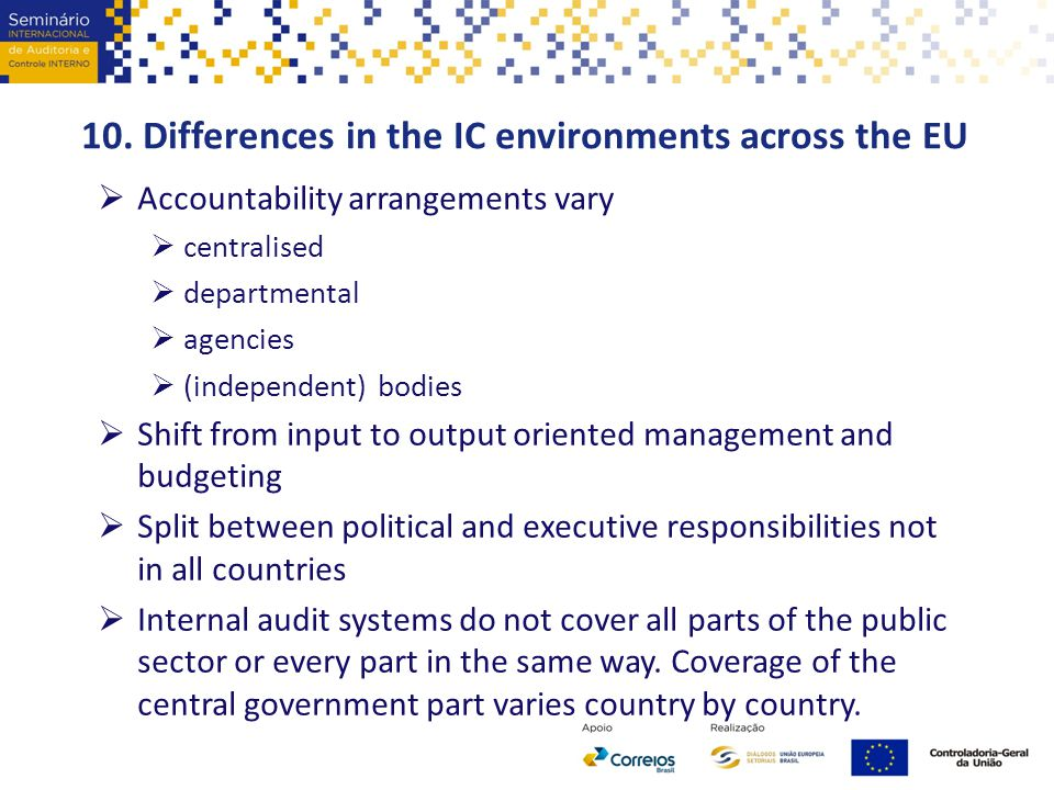 10. Differences in the IC environments across the EU