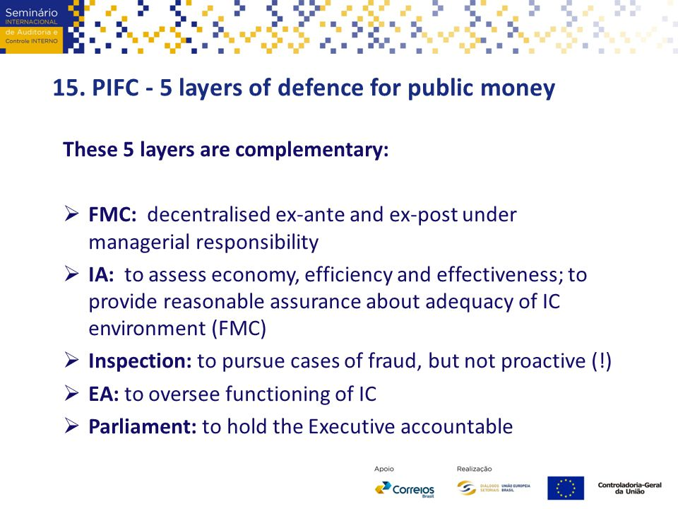 15. PIFC - 5 layers of defence for public money
