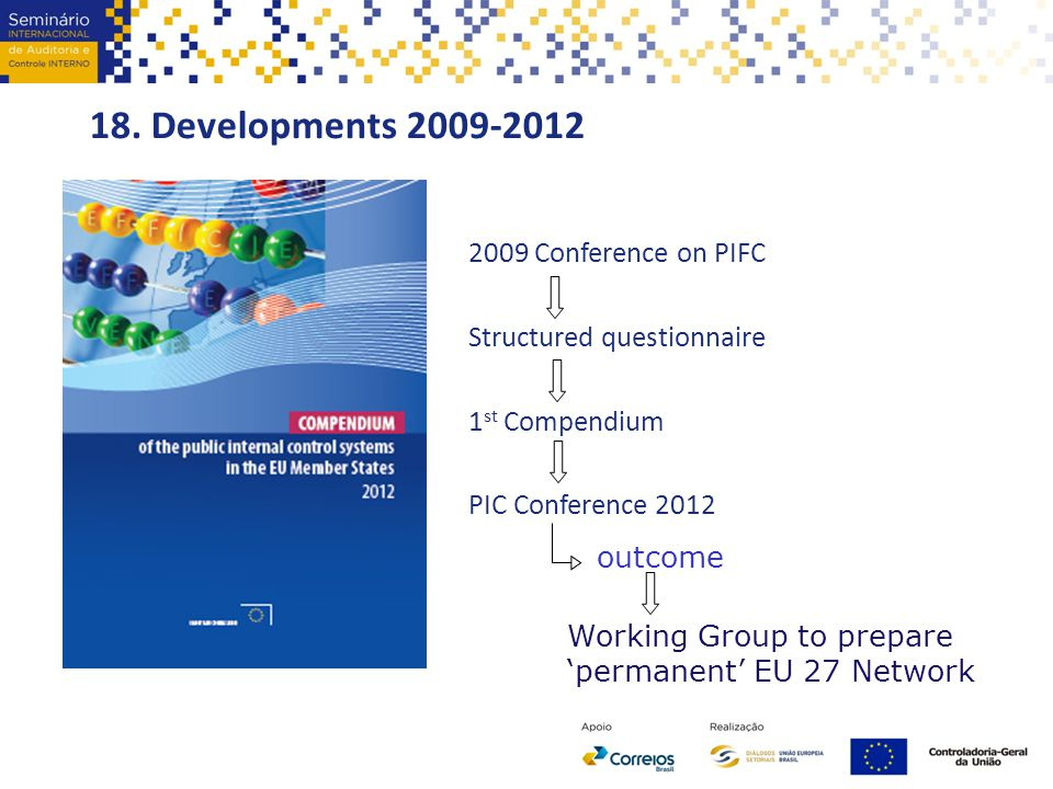 18. Developments 2009-2012 2009 Conference on PIFC