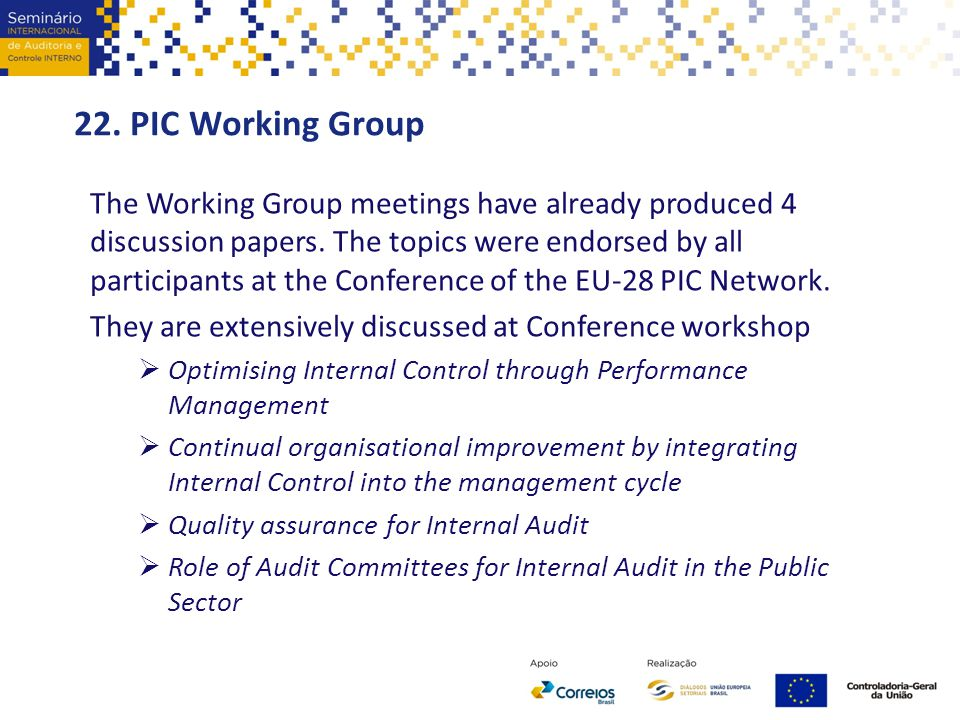 22. PIC Working Group