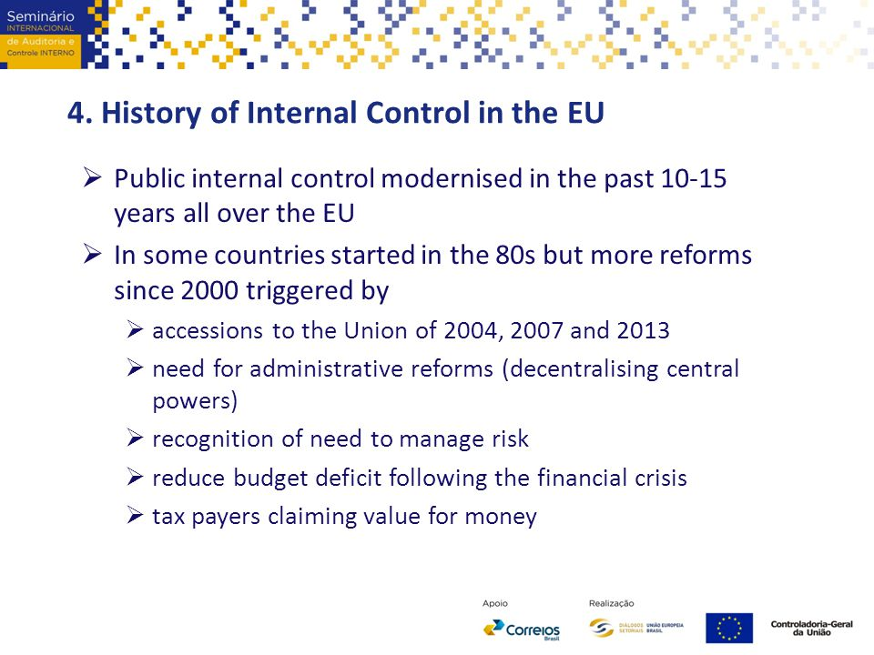 4. History of Internal Control in the EU