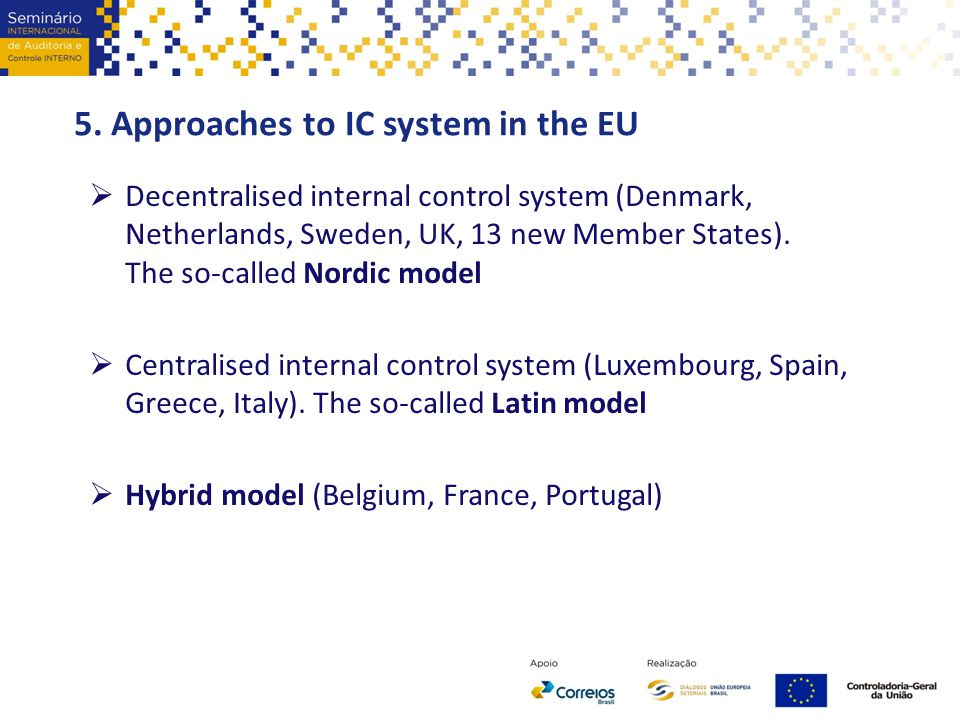 5. Approaches to IC system in the EU