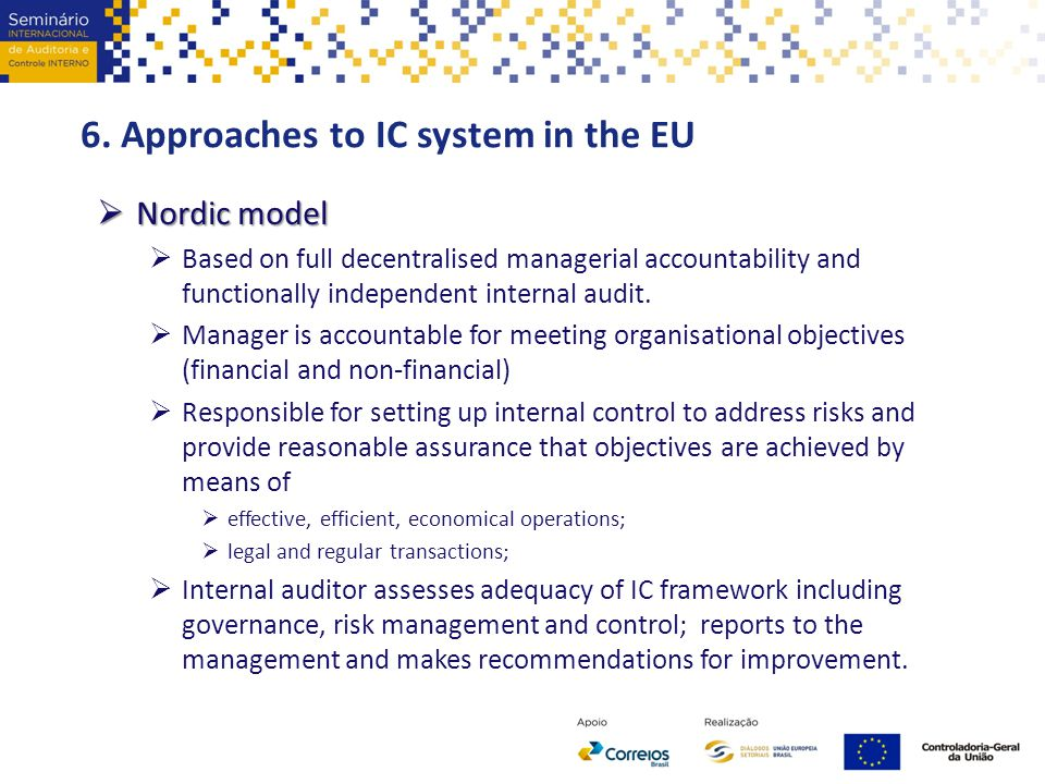 6. Approaches to IC system in the EU