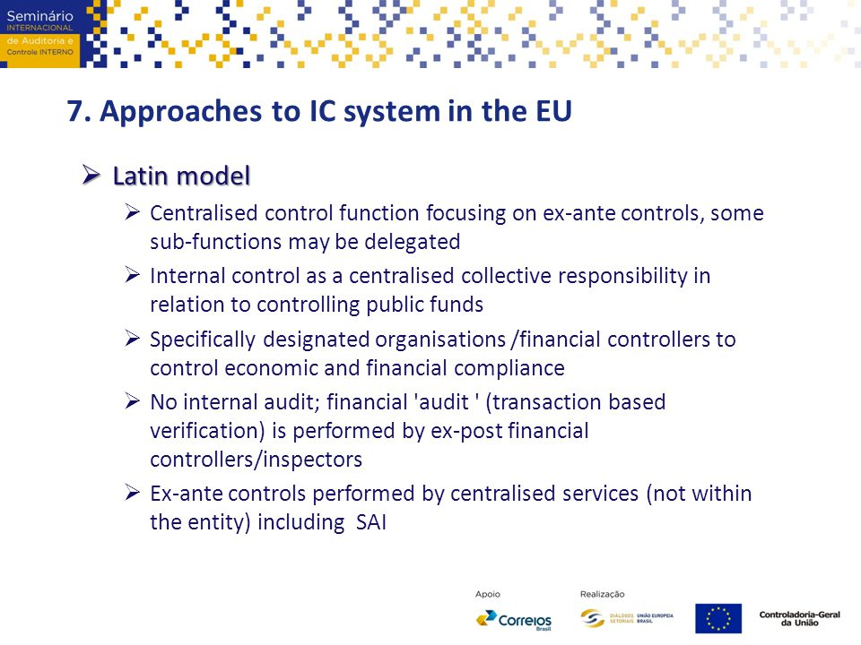 7. Approaches to IC system in the EU