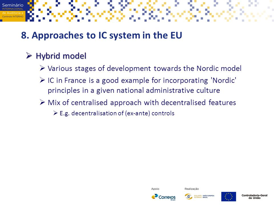 8. Approaches to IC system in the EU