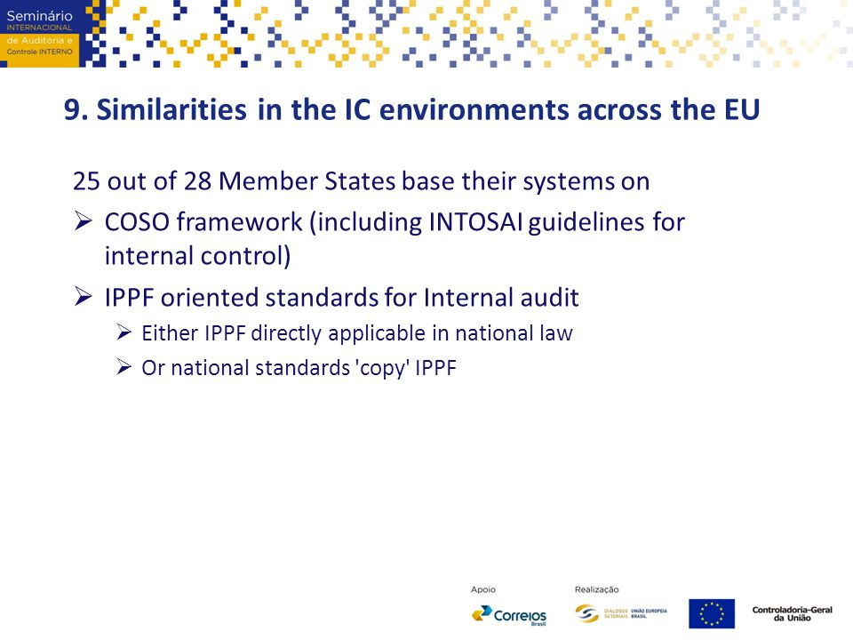 9. Similarities in the IC environments across the EU