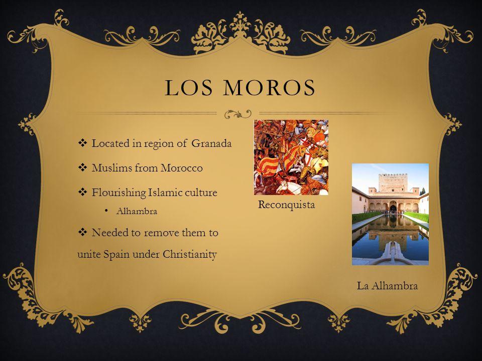 Los Moros Located in region of Granada Muslims from Morocco