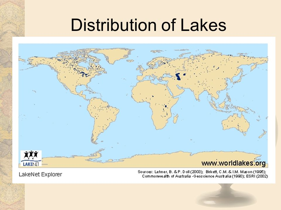 Distribution of Lakes