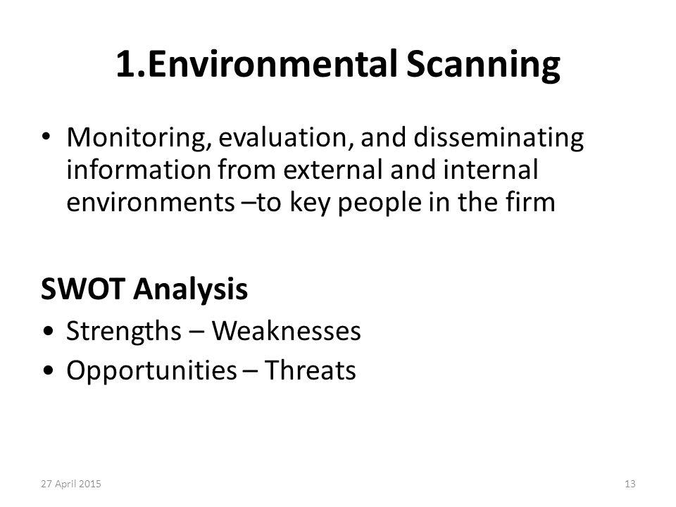 1.Environmental Scanning