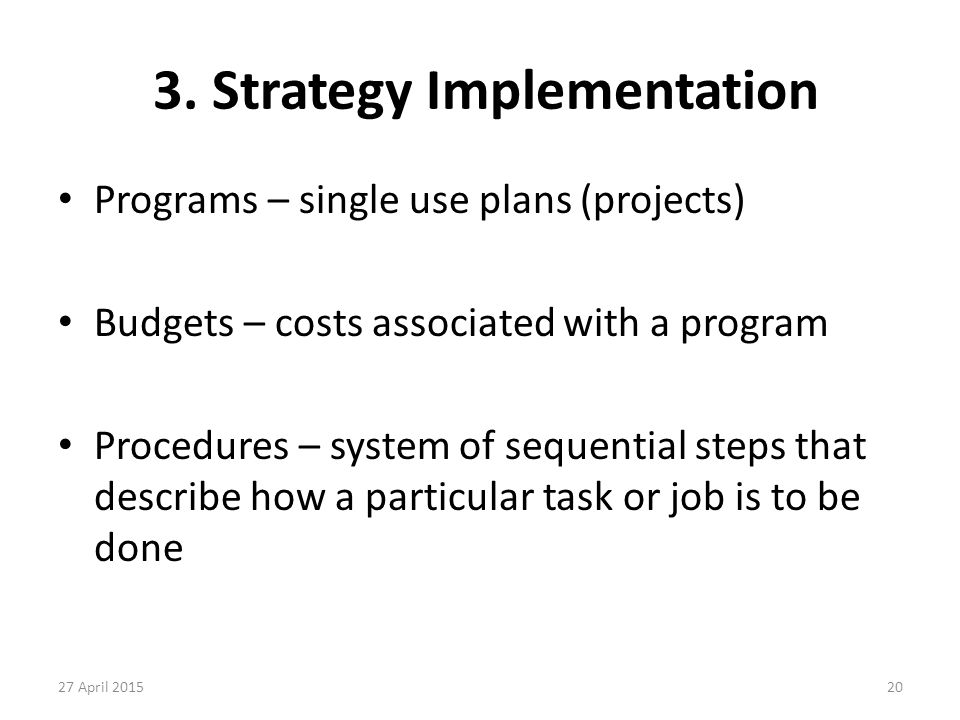 3. Strategy Implementation