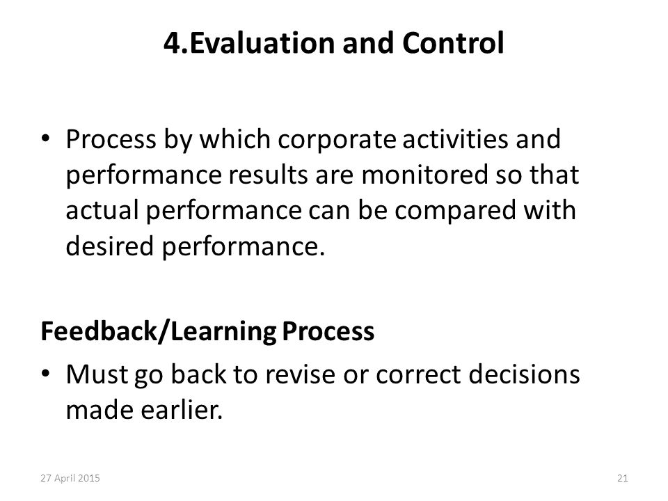 4.Evaluation and Control