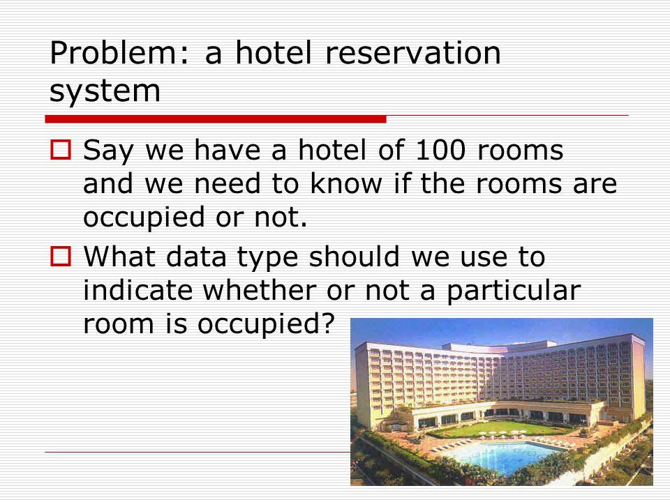 Problem: a hotel reservation system