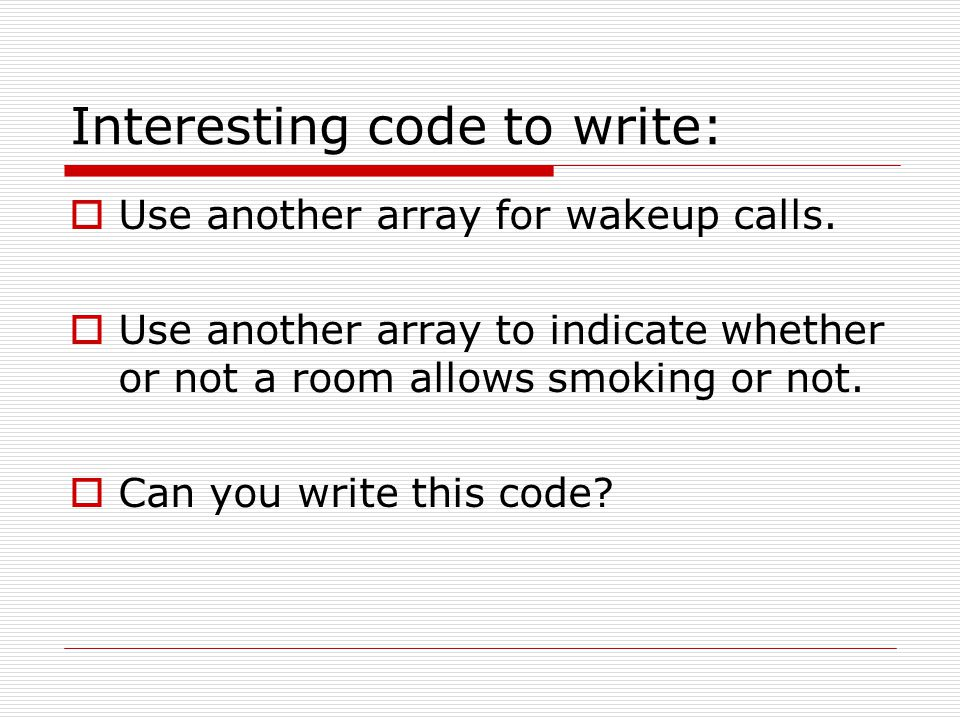Interesting code to write: