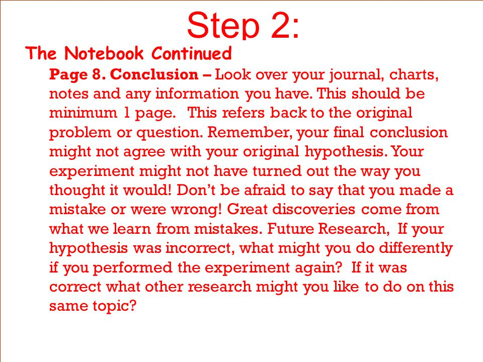 Step 2: The Notebook Continued