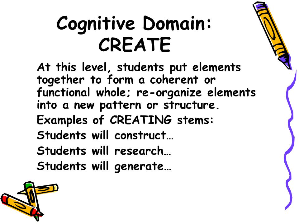 Cognitive Domain: CREATE