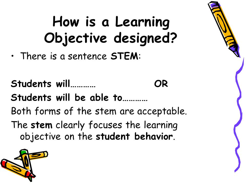 How is a Learning Objective designed