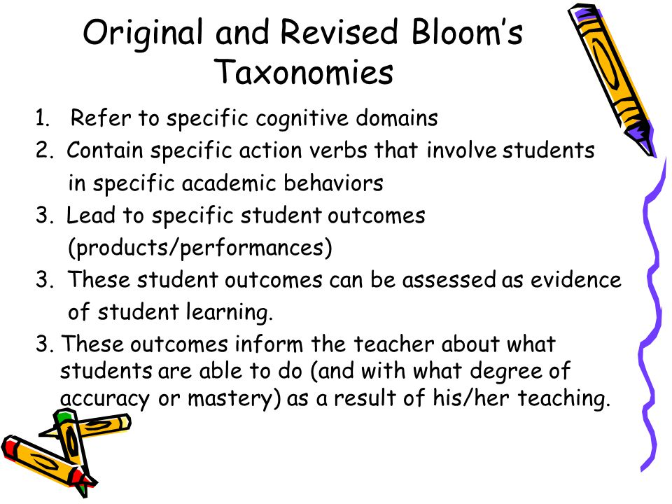 Original and Revised Bloom's Taxonomies