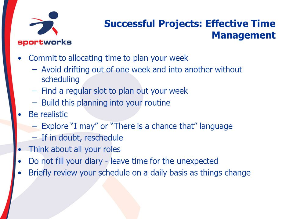 Successful Projects: Effective Time Management