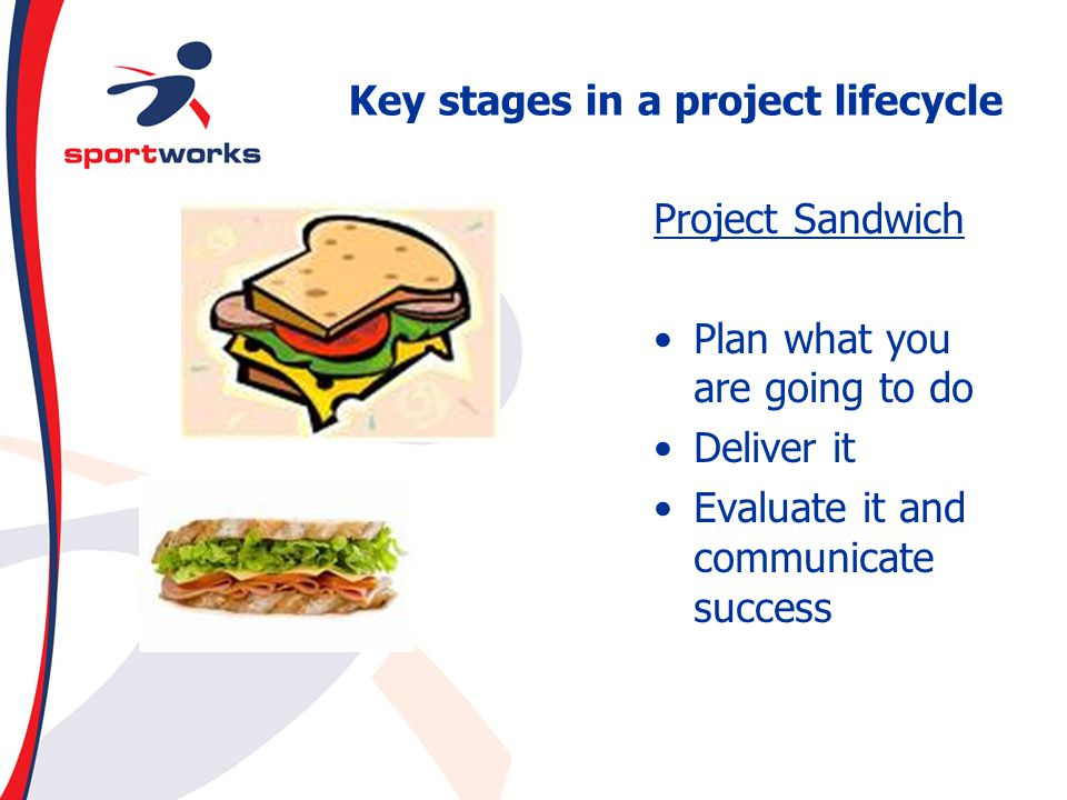 Key stages in a project lifecycle
