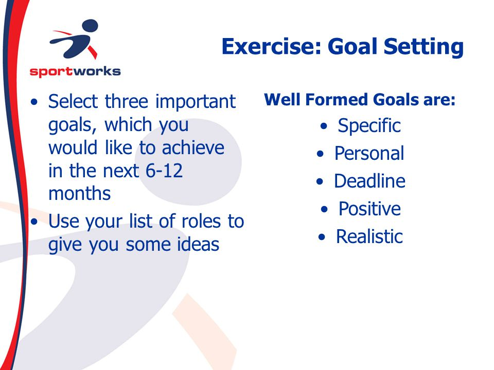 Exercise: Goal Setting