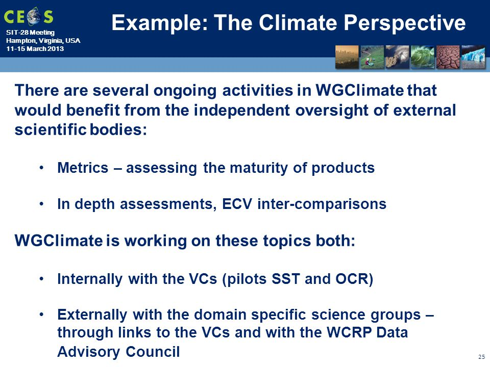 Example: The Climate Perspective