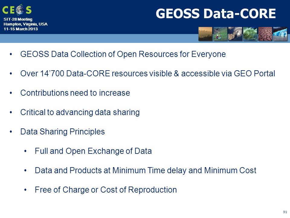 GEOSS Data-CORE GEOSS Data Collection of Open Resources for Everyone